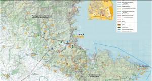 Plano de Rutas de Senderismo y BTT en Llançà