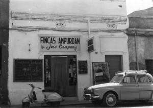 Fincas Ampurdán (los inicios de Finques J. Company) en 1963.